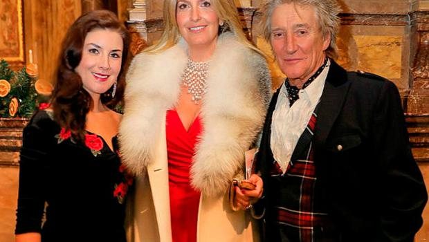 Margaret Keys with Rod Stewart and Penny Lancaster