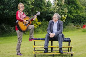 Perfect duet: musician Anna with her husband Alec