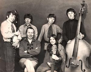 Making music: the Sands Family with brother Eugene (back row, second from left)