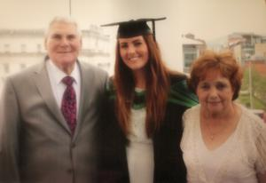 James McConnell and his wife Margaret attending their granddaughter Rebecca's graduation