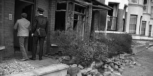 The Whyte family home following a UVF bomb in 1984