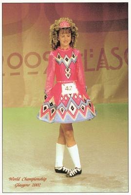 Lisa at the 2002 Irish Dancing World Championships in Glasgow