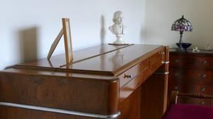 The piano he restored using French polishing