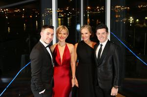 Paddy and Tina Wallace with Erica Stoll and Rory McIlroy at the The Paddy Wallace Fund for Autism charity event in 2015