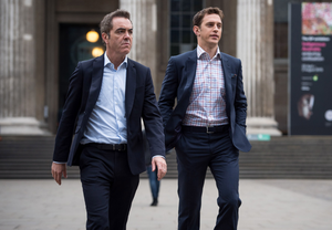 Fair cops: Stephen as Rich Clayton with James Nesbitt as DI Harry Clayton in Lucky Man