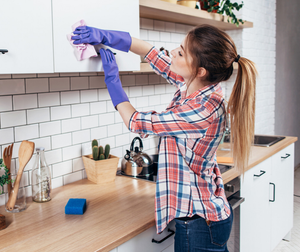 Deep clean: washing kitchen surfaces is essential