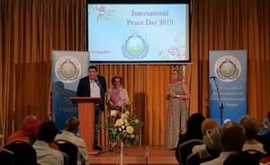 Speaking at International Peace Day in 2019