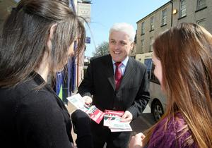 SDLP candidate Fearghal McKinney canvassing when he was standing in Fermanagh-South Tyrone in the general election