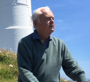 Sir Martyn Lewis in a picture taken by his sister Jill