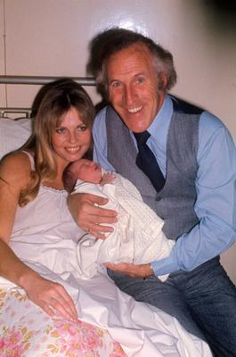 Bruce Forsyth visiting his wife Anthea Redfern and their new daughter.