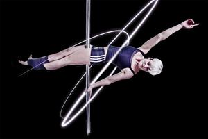 Taken hold: El Fegan became hooked on pole fitness after a trip to Australia