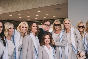 Dream team: make-up artist Paddy McGurgan and Alison Clarke (centre) with, from left, Caroline Harrington, Nicole Willett, Helen Storey, Marian Lawrie, Sofia Lundest and Grace Barbour