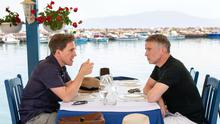 Greek odyssey: Steve Coogan (right) and Rob Brydon on The Trip