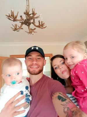 Carl Frampton with wife Christine and their children Carla and Rossa