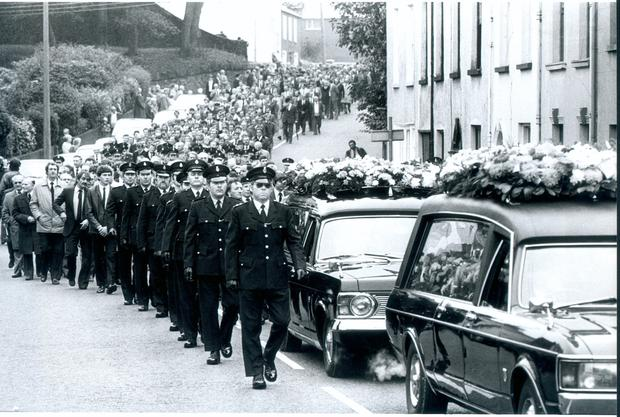 The funeral of officer James Ferris