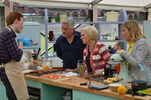 Talking to judges Paul Hollywood and Mary Berry, and host Mel Giedroy