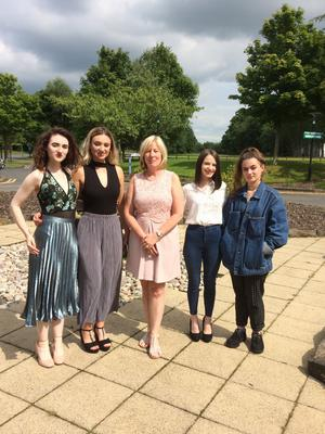 Artistic family: Don's wife Ann with daughters (from left) Chloe, Emily, Julia-Rose and Alice