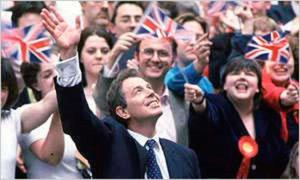 Tony Blair's election victory in 1997