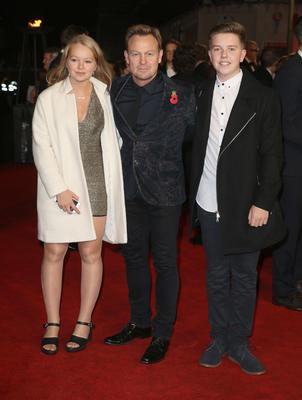 Donovan with two of his children, Jemma (16) and Zac (15)