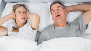 Restless nights: loud snoring can prove a real problem for some people