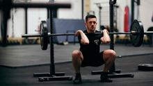 Weighty issue: Fionnbharr Toolan at work in his Virtu Gym
