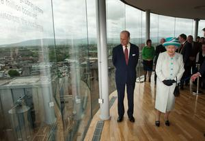 The Queen and Duke of Edinburgh's visit to the Guinness Storehouse in 2011 in Dublin