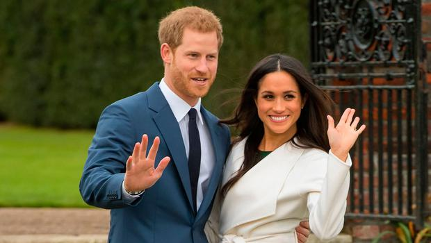 Nearly there: Prince Harry and Meghan Markle
