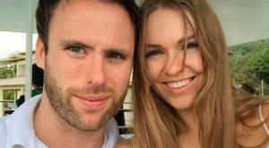 Zoe Salmon with her husband Will Corrie