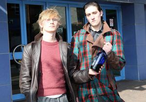 Bottoms up: Adam Turns as I and Xander Duffy as Withnail