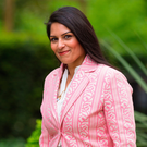 Priti serious: Patel was forced to resign over undisclosed meetings with Israeli officials including Prime Minister Benjamin Netanyahu