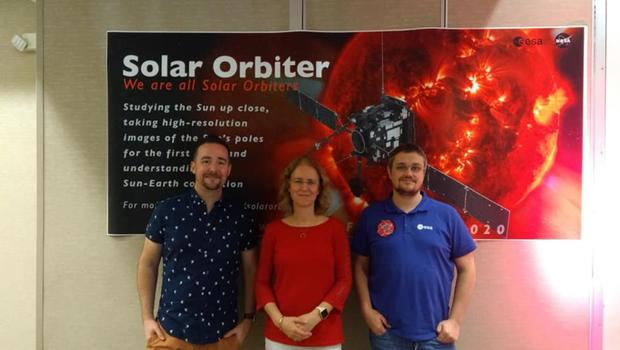 With David Williams (left) and Andrew Walsh. David works for the European Space Agency in Madrid