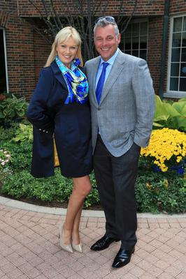 Darren Clarke of Europe poses with his wife Alison