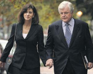 Ted Kennedy and his widow, Victoria