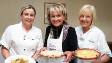Dream team: cooks Agnes Huey (left) and Rosemary Cassidy (right) with Jenny Bristow