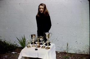 Diana Wilkinson with her sports medals