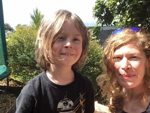 Nature lessons: Aideen Sweeney and her son, Ruairi, go for walks as part of their day