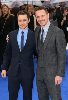James McAvoy (left) and Michael Fassbender