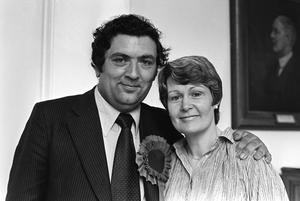 Happy couple: John Hume and wife Pat in 1979