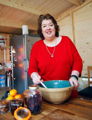 Tasty treats: Paula McIntyre was impressed with the standard of entries into the competition