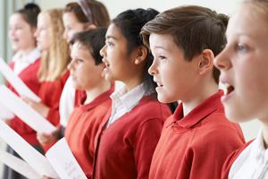 One voice: a choir singing together