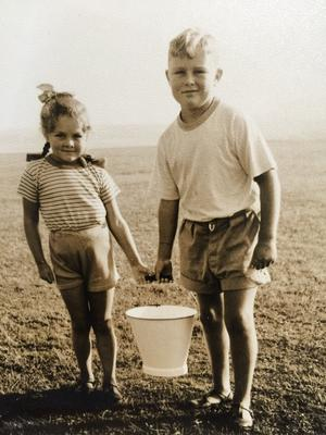 Childhood pictures of Martyn Lewis and his sister Jill enjoying their summer holidays in Portrush