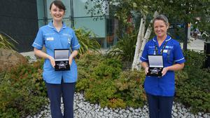 Deserved accolades: Hannah Whittaker and Deputy Sister Fiona Rice