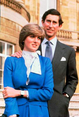 Diana in 1994; on her engagement to Prince Charles