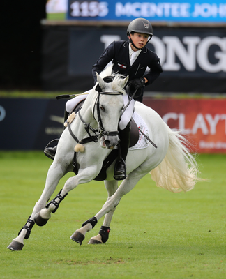 Mane attraction: John McEntee competing at the Dublin Horse Show