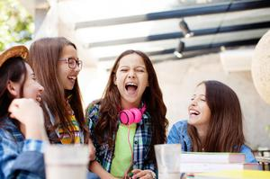 Happy times: teenagers are more confident than stereotypes would suggest
