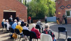 Anthony Toner performing at Sydenham Court in east Belfast
