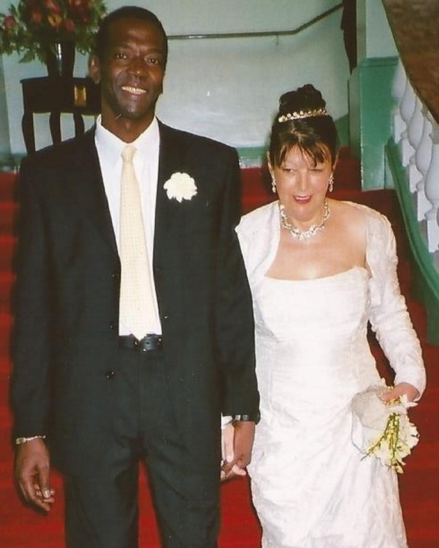 Jenny Cathcart with her husband Oumar Sow