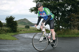 Spoke person: Conor Keown took up cycling after  giving up rugby