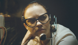 Chill factor: Sierra McCormick as switchboard operator Fay in The Vast of Night