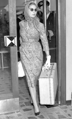 Valerie at Dublin Airport in the late Fifties